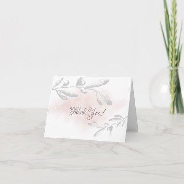 Pink Watercolor Floral Bridal Shower Thank You