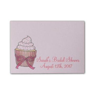 Pink Wedding Bridal Shower Cupcake Cake Post Its Post-it Notes