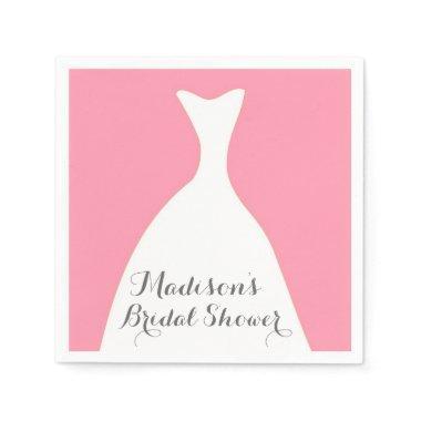 Pink Wedding Dress  Napkins