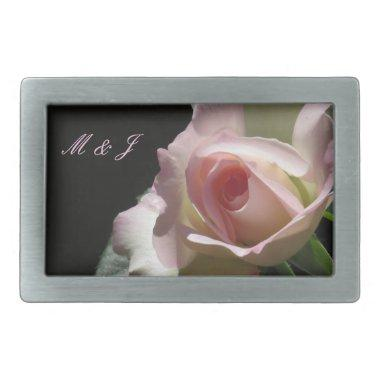 Pink Wedding Rose Belt Buckle