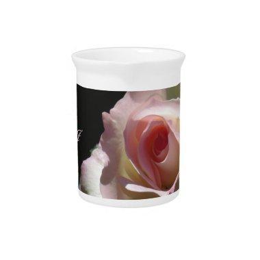 Pink Wedding Rose Beverage Pitcher