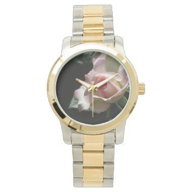 Pink Wedding Rose Wrist Watch