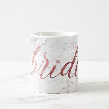 PixDezines Bride/Faux Rose Gold/Modern Script Coffee Mug