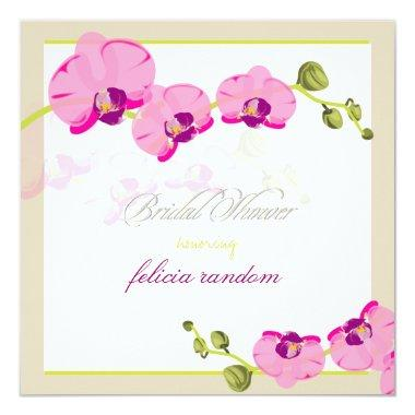 PixDezines diy background/pink orchid Invitations