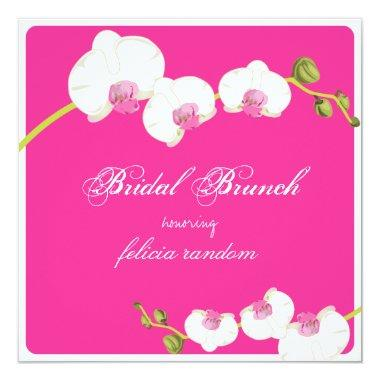 PixDezines orchid/bridal brunch/diy background Invitations