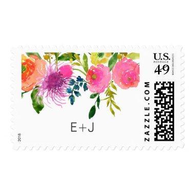PixDezines watercolor floral Postage