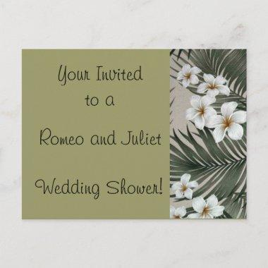 Plumeria-Palm-Cream.jpg, Romeo and Juliet , Wed... Invitation PostInvitations