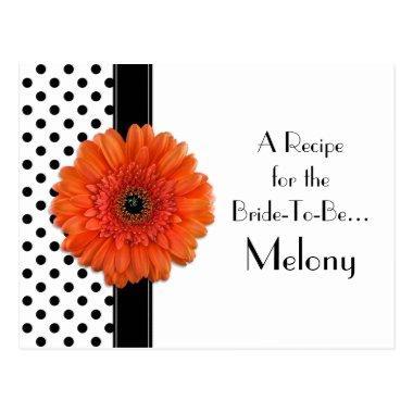 Polka Dot Orange Daisy Recipe  for the Bride