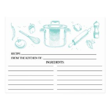Popular Blue Sketched Kitchen Tools Recipe