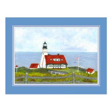 """Portland Head Light """"A View from the Hill"""" Post"""