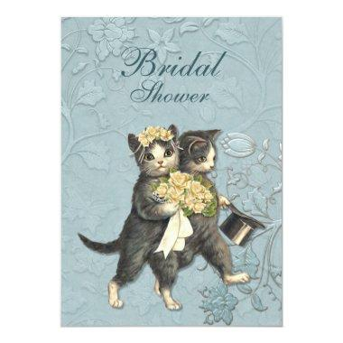 Posh Cats Bridal Shower Invitations