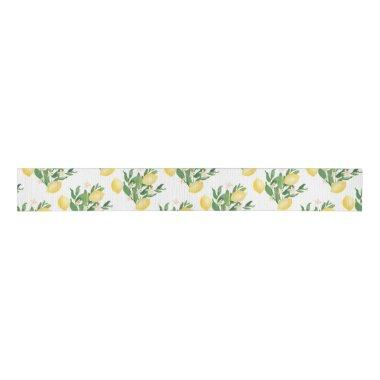 Positano Watercolor Lemons Co-ordinating Grosgrain Ribbon