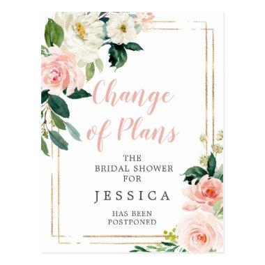 Postponed Bridal Shower Announcement PostInvitations