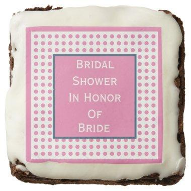 Preppy Bridal Shower Polka Dots Brownies