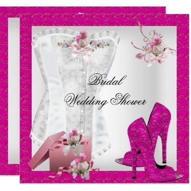 Pretty  White Pink Corset High Heels