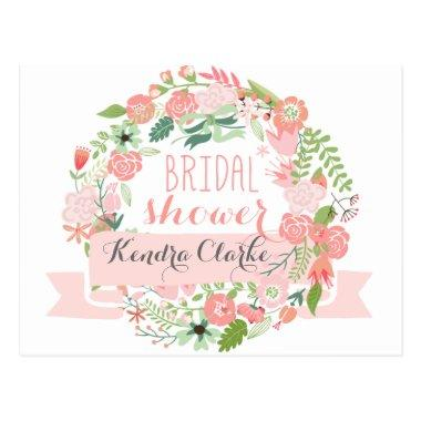 PRETTY FLORAL WREATH |  INVITATION POST