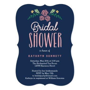 Pretty Garden Editable Color Bridal Shower Invite