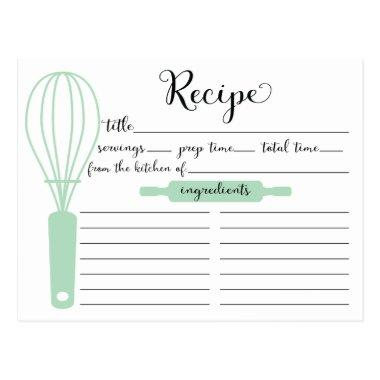 Pretty Hand Lettered Mint Green Whisk Recipe