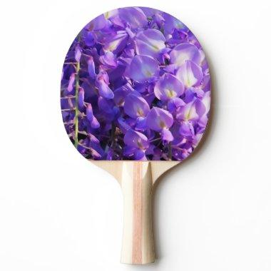 Pretty hanging Wisteria photo Ping Pong Paddle