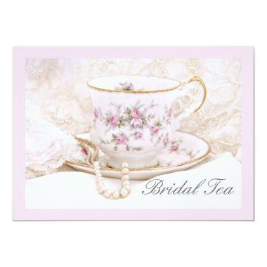 Pretty Pink Bridal Tea Shower Invitations