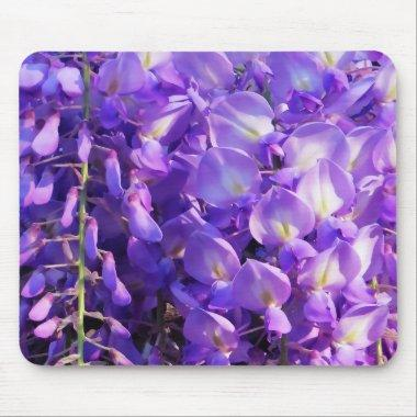 Pretty purple Wisteria flowers Mouse Pad