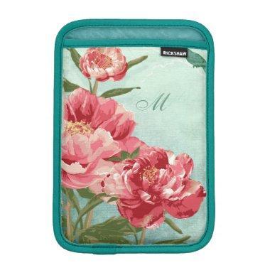 Pretty Retro Flower Home Decor Chintz Peony n Bird Sleeve For iPad Mini
