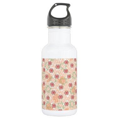 Pretty Vintage Floral Stainless Steel Water Bottle