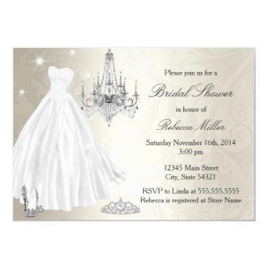 Pretty Wedding Dress  Cream White