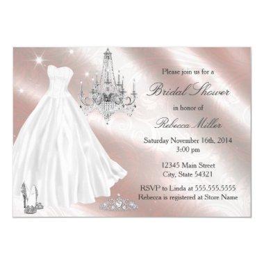 Pretty Wedding Dress  Invite