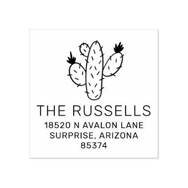 Prickly Pear Cactus Address Stamp