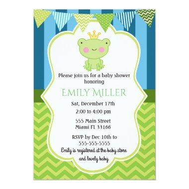 Prince Frog Baby Shower