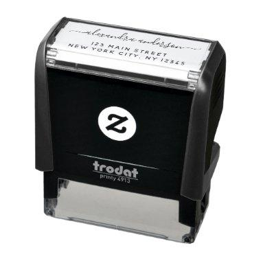 Professional or Personal Elegant Return Address Self-inking Stamp