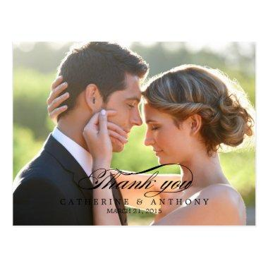 Pure Elegance Wedding Thank You  - Black