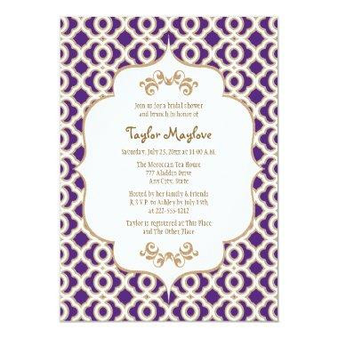 Purple and Gold Moroccan  Invites