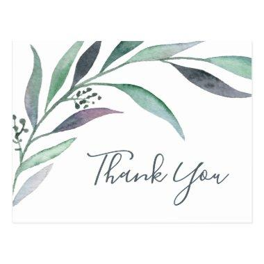 Purple and Green Eucalyptus Thank You PostInvitations