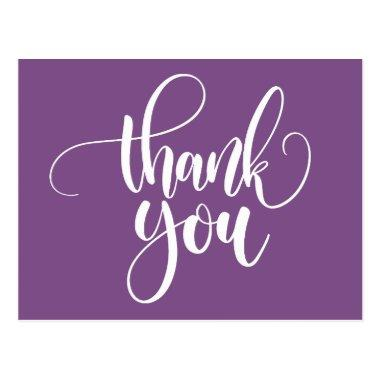 Purple and White Thank You - Wedding Party PostInvitations