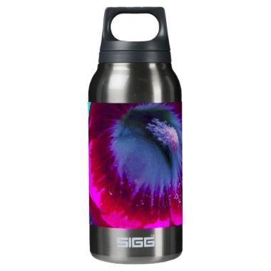 Purple-Black garden Hollyhocks by SHARLES Insulated Water Bottle