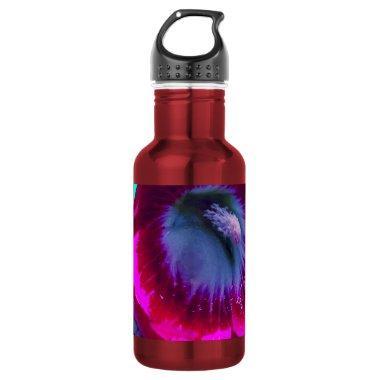 Purple-Black garden Hollyhocks by SHARLES Water Bottle
