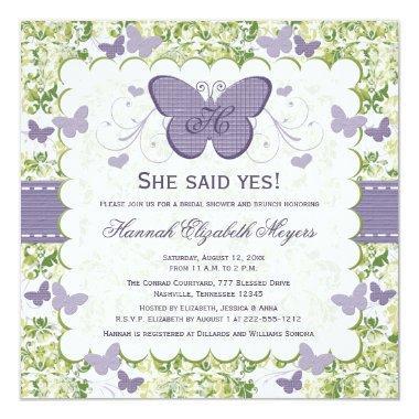 Purple Butterfly  Invites