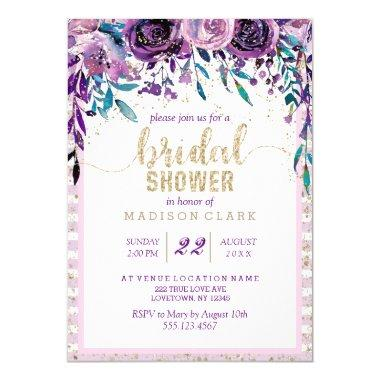 Purple Floral Champagne