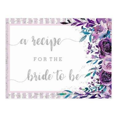 Purple Floral & Silver  Recipe