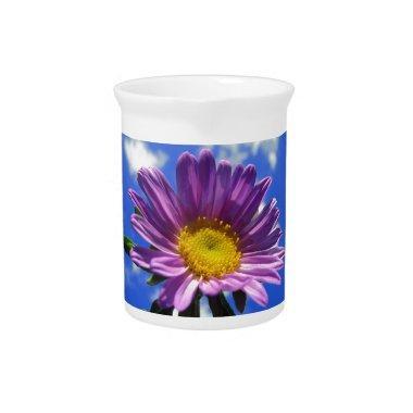 Purple Flower Beverage Pitcher