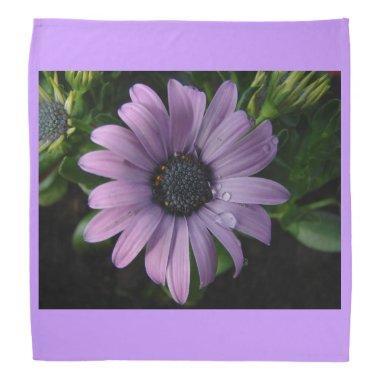 Purple Flowers Blossoms Pink Personalize Art Bandana