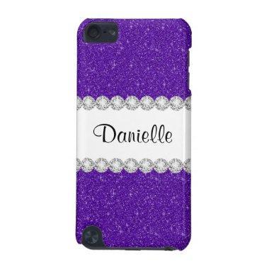 Purple Glitter Sparkles Print 5G iPod Touch Case