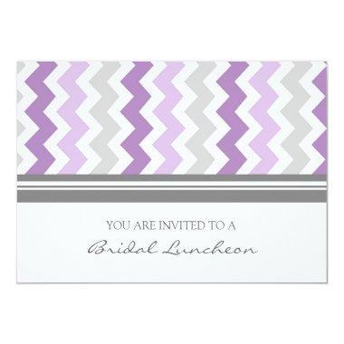 Purple Gray Chevron Bridal Lunch