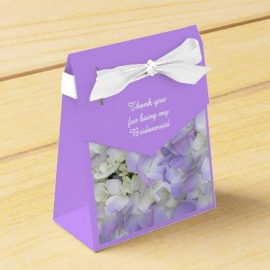 Purple Hydrangea Bridesmaids Thank You Gift Box