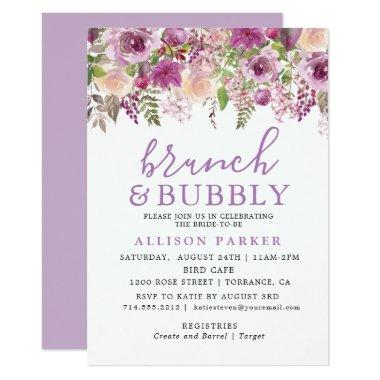 Purple Lavender Floral Brunch & Bubbly