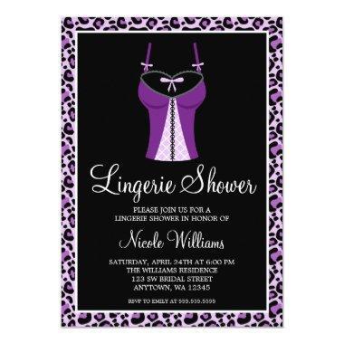 Purple Leopard Lingerie