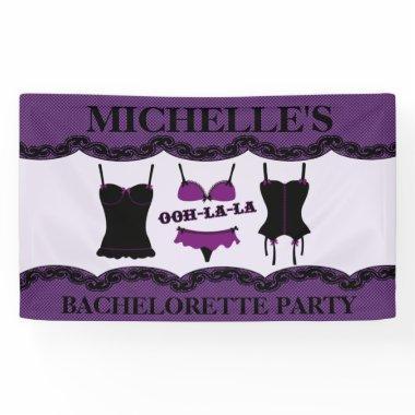Purple Lingerie, Bachelorette Party Banner