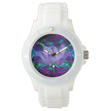 Purple lotus flower and its meaning wrist watch